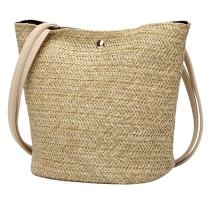 Women Top Handle Straw Bag Shoulder Bag Crossbody Bag Purse