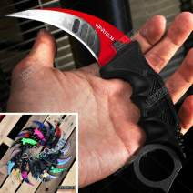 KCCEDGE BEST CUTLERY SOURCE CSGO Karambit Advanced Tactical Knife Survival Knife Hunting Knife Fixed Blade Knife Razor Sharp Edge Camping Accessories Camping Gear Survival Kit Survival Gear 51763