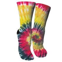 ULQUIEOR Swirl Ice Tie Dye Cotton Thin Ankle Breathable Cotton Crew Socks