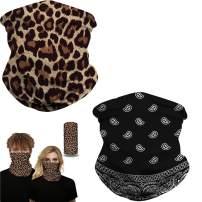 Owin Face Mask, Unisex Multifunctional Headwear Face Scarf Balaclava Headband Neck Gaiter