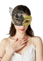 Bellady Masquerade Mask for Women,Venetian Cosplay Ball Mask for Party Costume Accessory