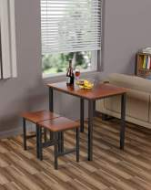 Hooseng Small Dining Table Set for 2 - Kitchen Room Furniture | Compact Design | Sturdy Structure | Easy Assembly | Height 30'', Espresso