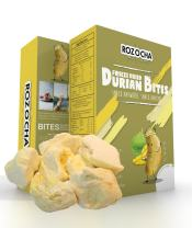 Rozocha Freeze Dried Durian Bites 3.52 Oz (0.88 Oz x 4 Count) Healthy Snack for Kids and all Ages (Made from 100% Real Durian)