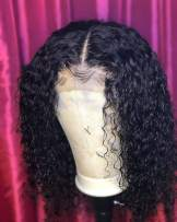 BEEOS 360 Lace Frontal Wigs Human Hair Deep Curly Wig Pre Plucked with Baby Hair Bleached Knots Free Part Natural Color Real Unprocessed Brazilian Hair for Black Women with New Detachable Band 12 Inch