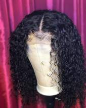 BEEOS 360 Lace Frontal Wigs Human Hair Deep Curly Wig Pre Plucked with Baby Hair Bleached Knots Free Part Natural Color Real Unprocessed Brazilian Hair for Black Women with New Detachable Band 10 Inch