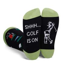 SOCKFUN Funny Novelty Casual Dress Socks, Golf Golfer Rugby Gift Socks For Men
