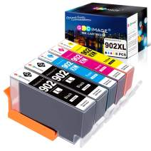 GPC Image Compatible Ink Replacement for HP 902 902XL Ink Cartridge Work with HP OfficeJet Pro 6968 6978 6958 6962 6960 6970 6979 6950 6954 6975 Printer (2BK, 1 Meganta,1 Cyan,1 Yellow)