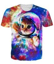 Loveternal Mens T-Shirts 3D Graphics Print Short Sleeve Funny Summer T Shirts