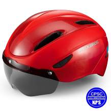 ROCK BROS Bike Helmet Cycling Helmet Road Mountain Bicycle Helmet CPSC Safety Standard with Detachable Magnetic Visor for Men Women