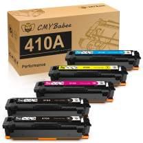 CMYBabee Compatible Toner Cartridge Replacement for HP 410A CF410A CF411A CF412A CF413A Fits with HP Color Laserjet Pro MFP M477fdw M477fnw M477fdn M452dn M452dw M452nw M377dw Printer (5 Pack)