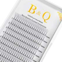Premade Volume Fans Eyelash Extensions 12 Rows/Tray Short Stem Russian Volumes Lashes Extensions Fans Individual Cluster Eyelash Extensions (3D-D curl-0.10, 12mm)