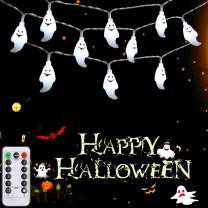 SYIHLON Halloween Ghost Lights 8 Modes,10.8ft 30LEDs 3D Ghost Lights with Remote Control,IP65 Waterproof Battery Operated Fairy String Lights for Halloween Bar Outdoor Indoor Decor