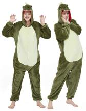 CASABACO Adult Dinosaur Onesie Costume Outfit Women T-rex Animal Pajama Halloween Unisex