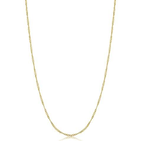 925 Sterling Silver Fine Open Curb Chain 20 Inch 1 mm Link  Velvet Gift Bag