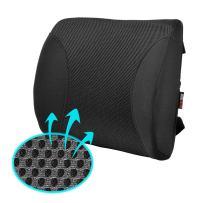 Motor Trend MeshBreeze Lumbar Back Support Pillow Car Seat Cushion (Black)