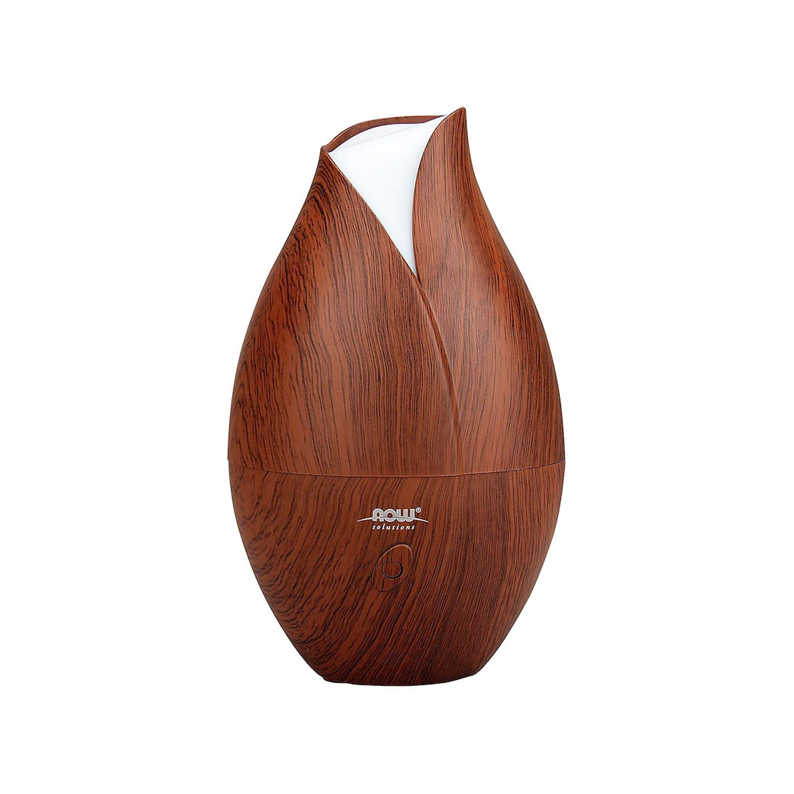 NOW Essential Oils, Ultrasonic Faux Wood Aromatherapy Oil Diffuser, Contemporary Design, Extremely Quiet Heat Free, Color Changing LED Diffuser