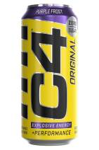 Cellucor C4 Original Sugar Free Sparkling Energy Drink Purple Frost | Pre Workout Performance Drink with No Artificial Colors or Dyes | 16oz (Pack of 12)