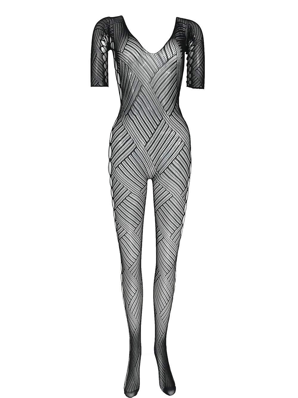LemonGirl Women Fishnet Lingerie Bodystockings Babydoll Bodysuit Stockings One Size