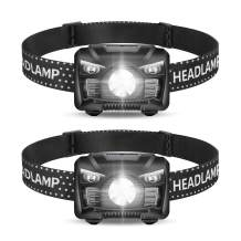 2 Pack of Rechargeable Headlamp, LED Headlamp, Head lamps for Adults, Flashlight with White Red Lights,USB Rechargeable Waterproof Head Lamp for Outdoor Camping Cycling Running Fishing