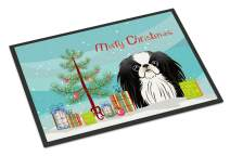 Caroline's Treasures BB1602JMAT Christmas Tree and Japanese Chin Indoor or Outdoor Mat 24x36, 24H X 36W, Multicolor