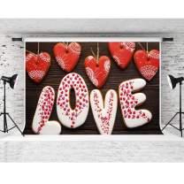Love Backdrop for Party, 7x5ft Soft Cotton, Wooden Floor Photography Backgrounds, Weddings Party Decor Supplies, Portrait Photo Shooting Props LHFS760