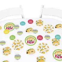 Big Dot of Happiness Taco 'Bout Fun - Mexican Fiesta Giant Circle Confetti - Party Decorations - Large Confetti 27 Count