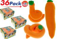 JA-RU Stretchy Carrot Sensory Toys Easter Basket Toys (36 Units) Stress Relief Toys | Fidget Toy for Kids Boys Girls and Adults. ADD, Autism Toys & Party Favors Squishy. 3342-36p