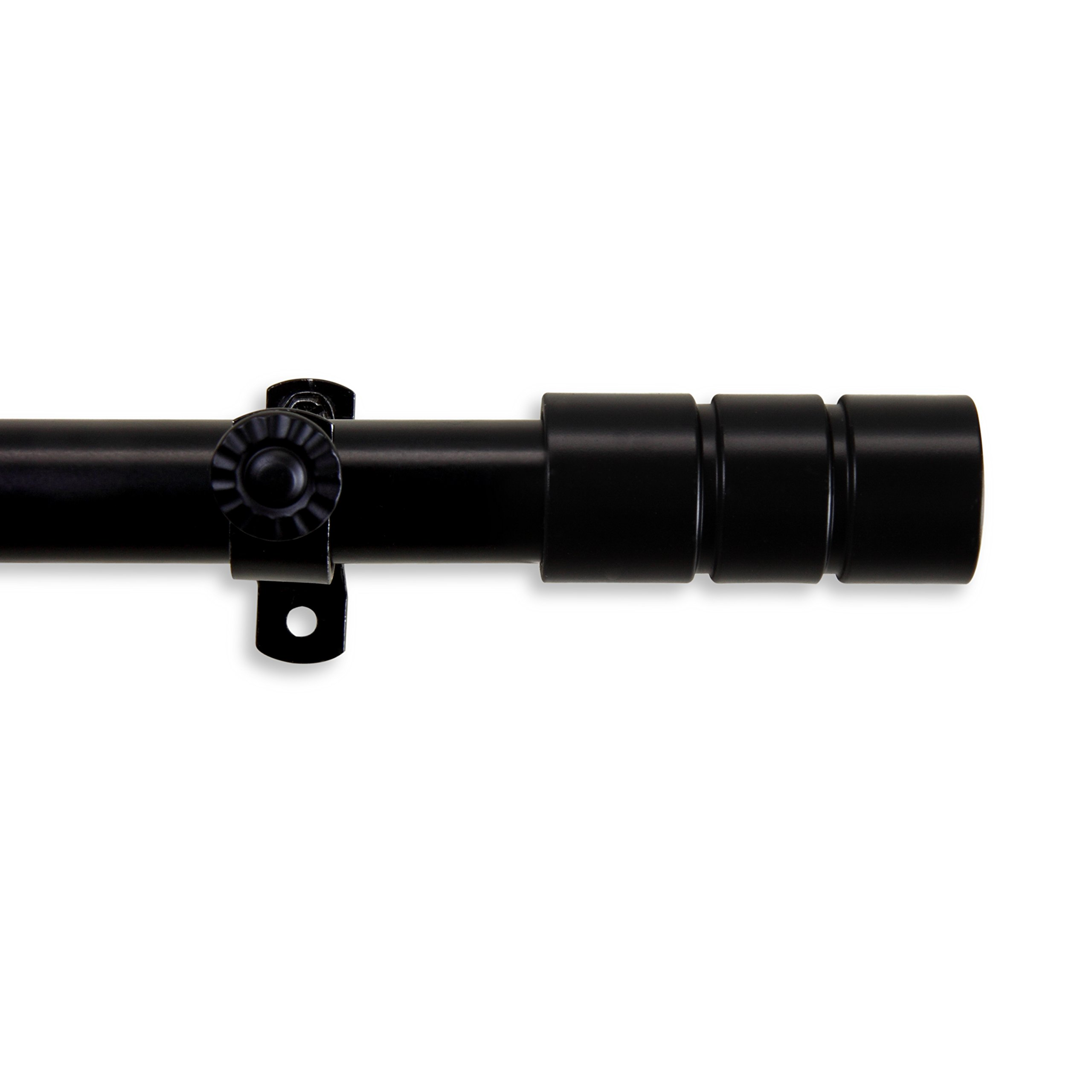 Theo Curtain Rod 28-48 inch - Black
