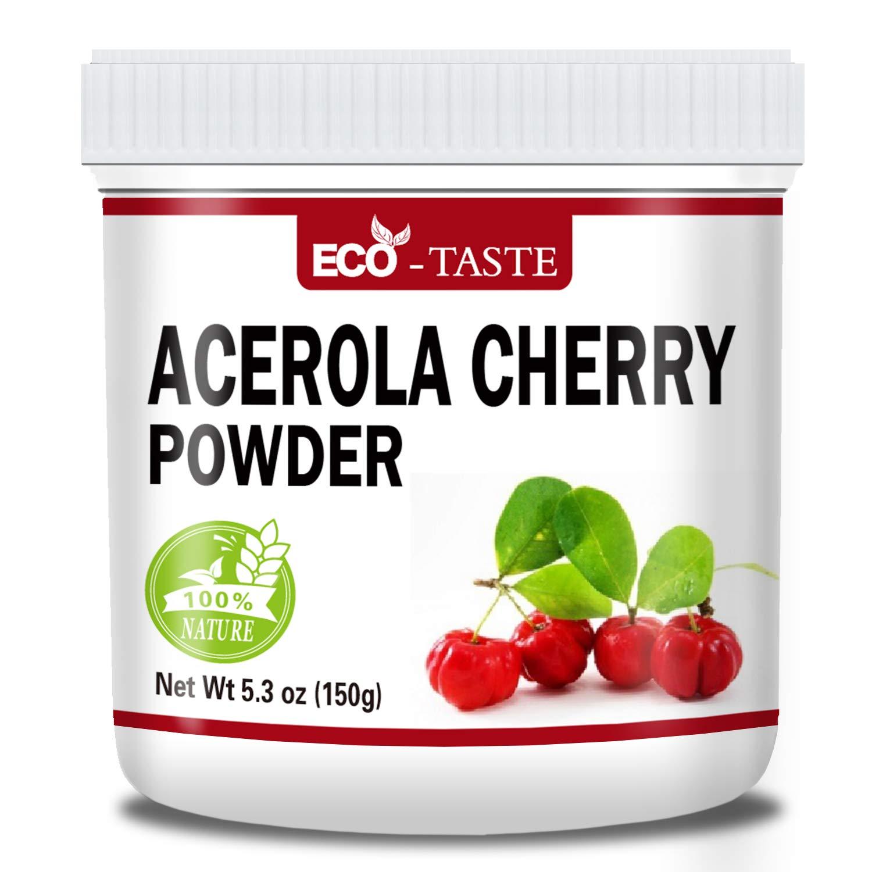 Natural Acerola Cherry Powder, 5.3oz(150g), Rich in Antioxidants and Vitamin C, Improve Immunity, 100% Pure, Non Gmo, Vegan Friendly