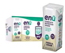 ENU RTD Vanilla Whey Protein Shake 17g (18 Pack) | Lactose & Gluten Free, Non-GMO Workout Drink For Muscle Gain | Healthy Weight Gain Nutrition Drink