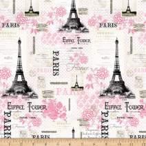 David Textiles Paris Pink Cream/Pink Fabric Fabric by the Yard