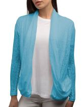 SCOTTeVEST Women Lucy Cardigan - Travel Clothing for Women - Sheer Cardigan