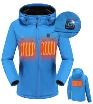 MYHEAT MHMen Women's Soft Shell Heated Jacket andFleece Liner, 7.4V 5200mA Battery is Included