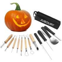 Juboury Pumpkin Carving Tools Kit, 12 Piece Professional Heavy Duty Stainless Steel Carving Tools for Pumpkin Halloween Decoration Jack-O-Lantern