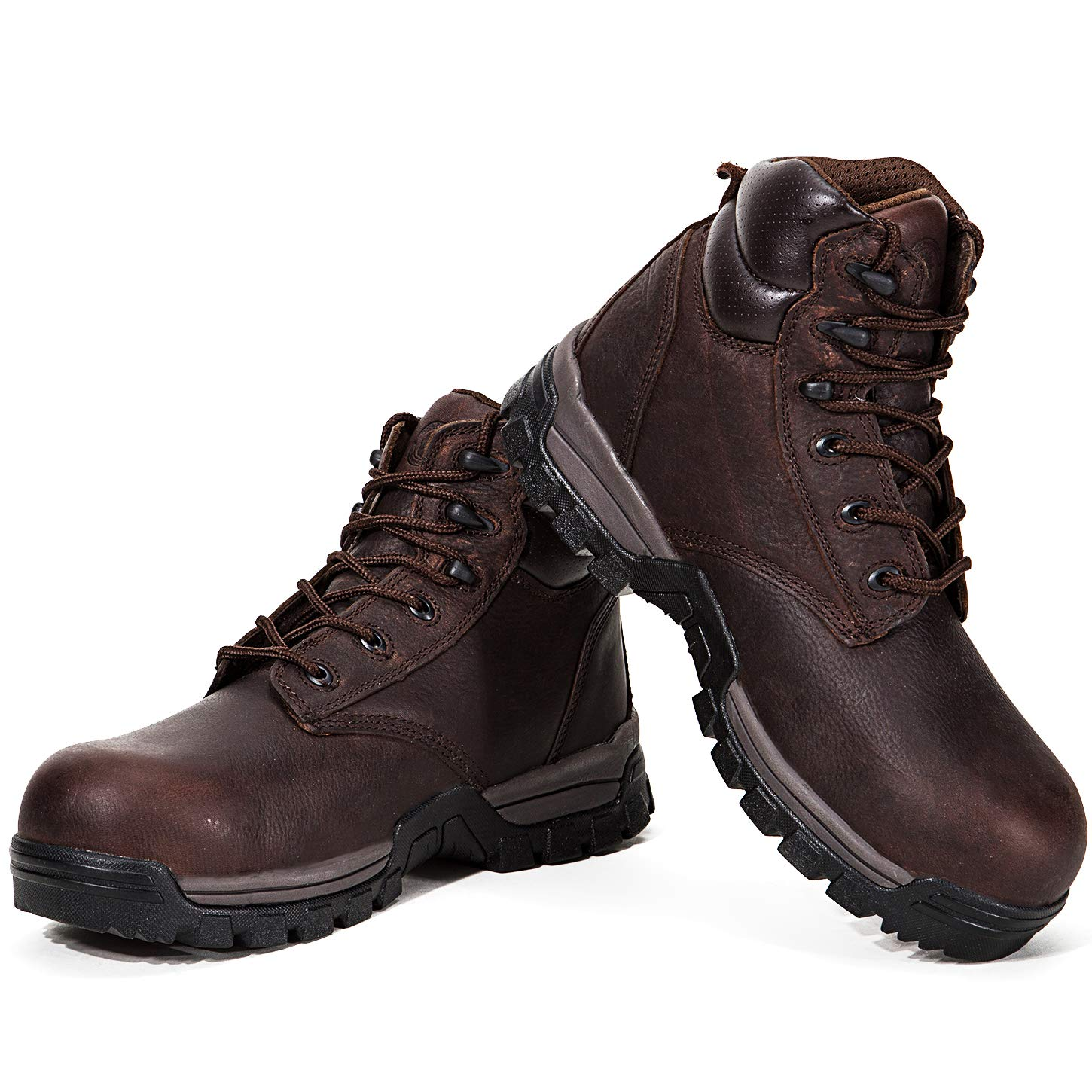 ROCKROOSTER Mens Work Boots, Waterproof Non-Slip Safety Shoes, ASTM F2413, Kevlar, Coolmax, Poron XRD, Anti-Fatigue