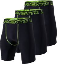 Lavento Men's 3-Pack Compression Shorts Baselayer Moisture-Wicking Active Tights