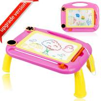 URUNIQ Magnetic Drawing Board Toy for Kids, Large Doodle Board Writing Painting Sketch Pad (Pink)