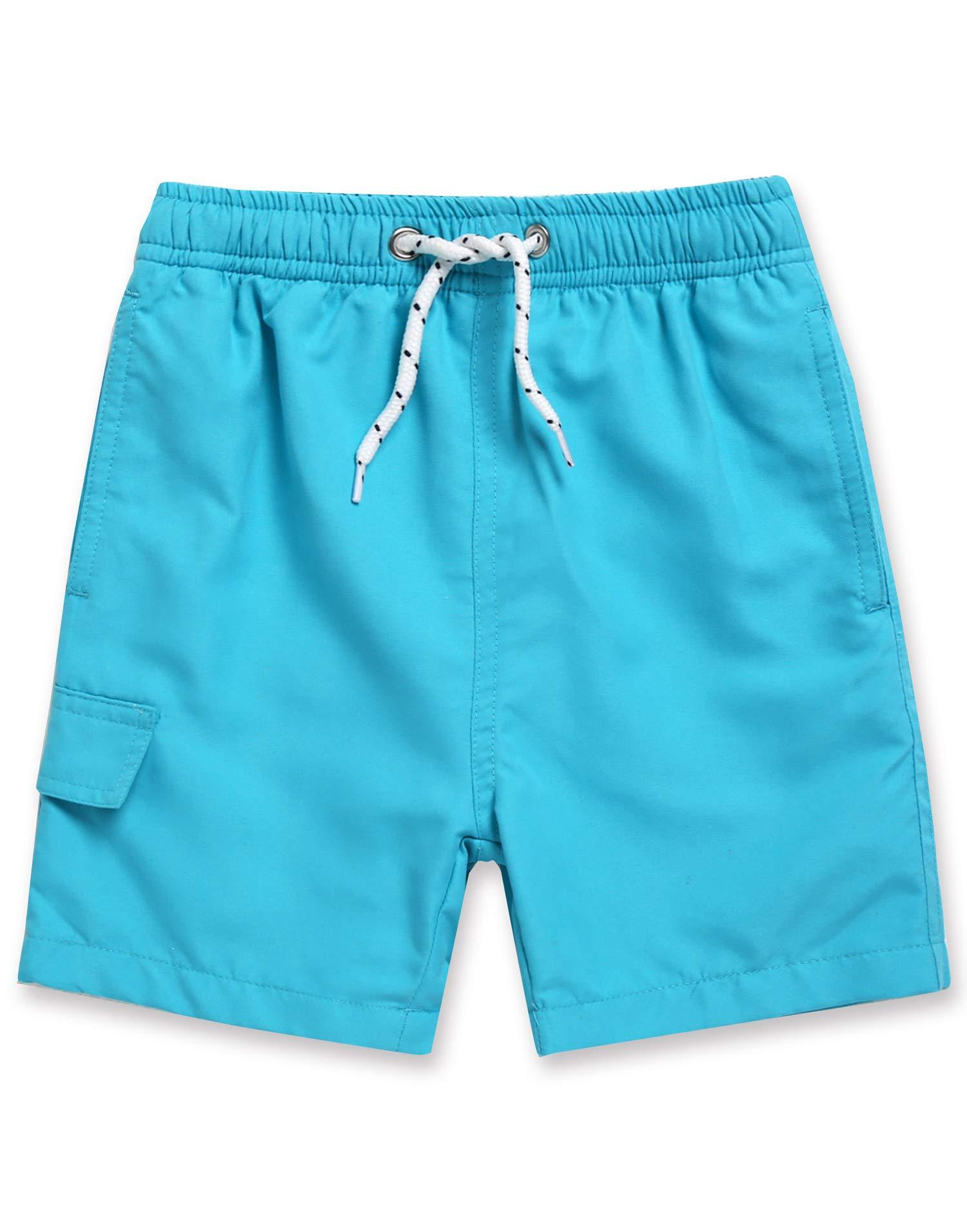 VAENAIT BABY 2-7T Kids Boys Girls UPF 50+ UV Protection Quick Dry Rashguard Swim Top Trunk Board Shorts with Mesh Lining & Drawstring