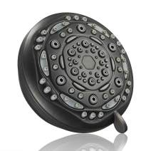 Couradric 7-Function Luxury Shower Head, High Pressure Adjustable Shower Head with Massage Mist and Water Saving Mode for Low Flow Showers- Oil-Rubbed Bronze