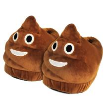 Plush Cute Cartoon Slippers - Funny Household Demand Shoes Surprise Gift for Friend Kid/Adult On Friendship Day Brown