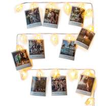Mind-glowing Photo Clip String Lights (10 ft.) with 20 LED - Battery Powered, Warm White Fairy Lights - Hanging Polaroid Pictures as Bedroom Wall Decor