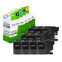 TCT Compatible Ink Cartridge Replacement for Brother LC20E LC20EBK LC20EC LC20EM LC20EY Super High Yield Works with Brother MFC-J5920DW J985DW Printers (Black, Cyan, Magenta, Yellow) - 10 Pack