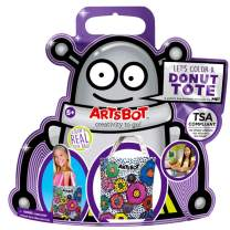 ARTSBOT Craft Kits - Make Your Own - Creativity & Imagination On The Go - Compact, Mess-Free, Stress-Free Art Kit for Boys and Girls 5+ - Common Core Compatible - 4 Great Kits (Donut Tote)