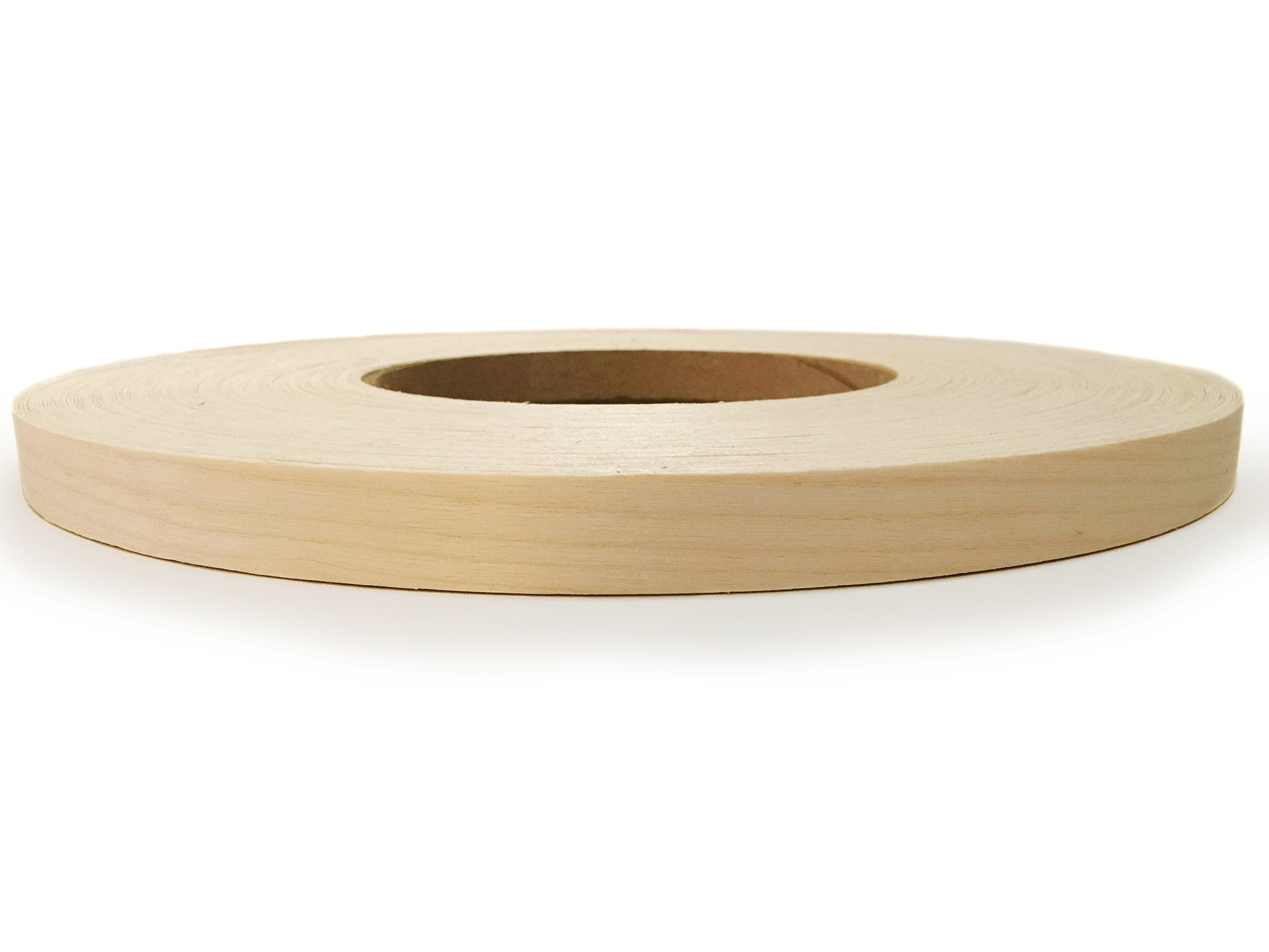"""Edge Supply Birch 3/4"""" X 250' Roll of Plywood Edge Banding – Pre-glued Real Wood Veneer Edging – Flexible Veneer Edging – Easy Application Iron-on Edge Banding for Furniture Restoration – Made in USA"""