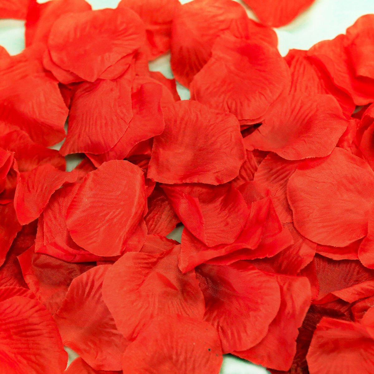 Magik 1000~5000 Pcs Silk Flower Rose Petals Wedding Party Pasty Tabel Decorations, Various Choices (4000, Red)