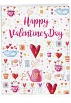 NobleWorks, Jumbo Happy Valentines Day Greeting Card (8.5 x 11 Inch) - Big Valentine's Card - Garden of Love J3478VDG