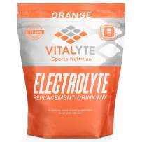 Vitalyte Natural Electrolyte Powder Drink Mix, Gluten Free, 40 2 Cup Servings Per Container (Orange-Pouch)