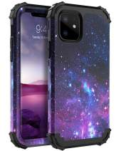 BENTOBEN iPhone 11 Case (2019), 3 in 1 Hybrid Hard PC Soft Rubber Heavy Duty Rugged Bumper Shockproof Anti-Scratches Full-Body Protective Phone Cover for 6.1inch iPhone11 /Eleven 2019 Release, Space