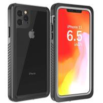 Justcool Designed for iPhone 11 Pro Max Case, Clear Full Body Heavy Duty Protection with Built-in Screen Protector Shockproof Rugged Cover Designed for iPhone 11 Max Case 6.5 inch (2019)