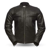 First MFG Co. - Turbine - Perforated Men's Leather Jacket (Black, X-Small)